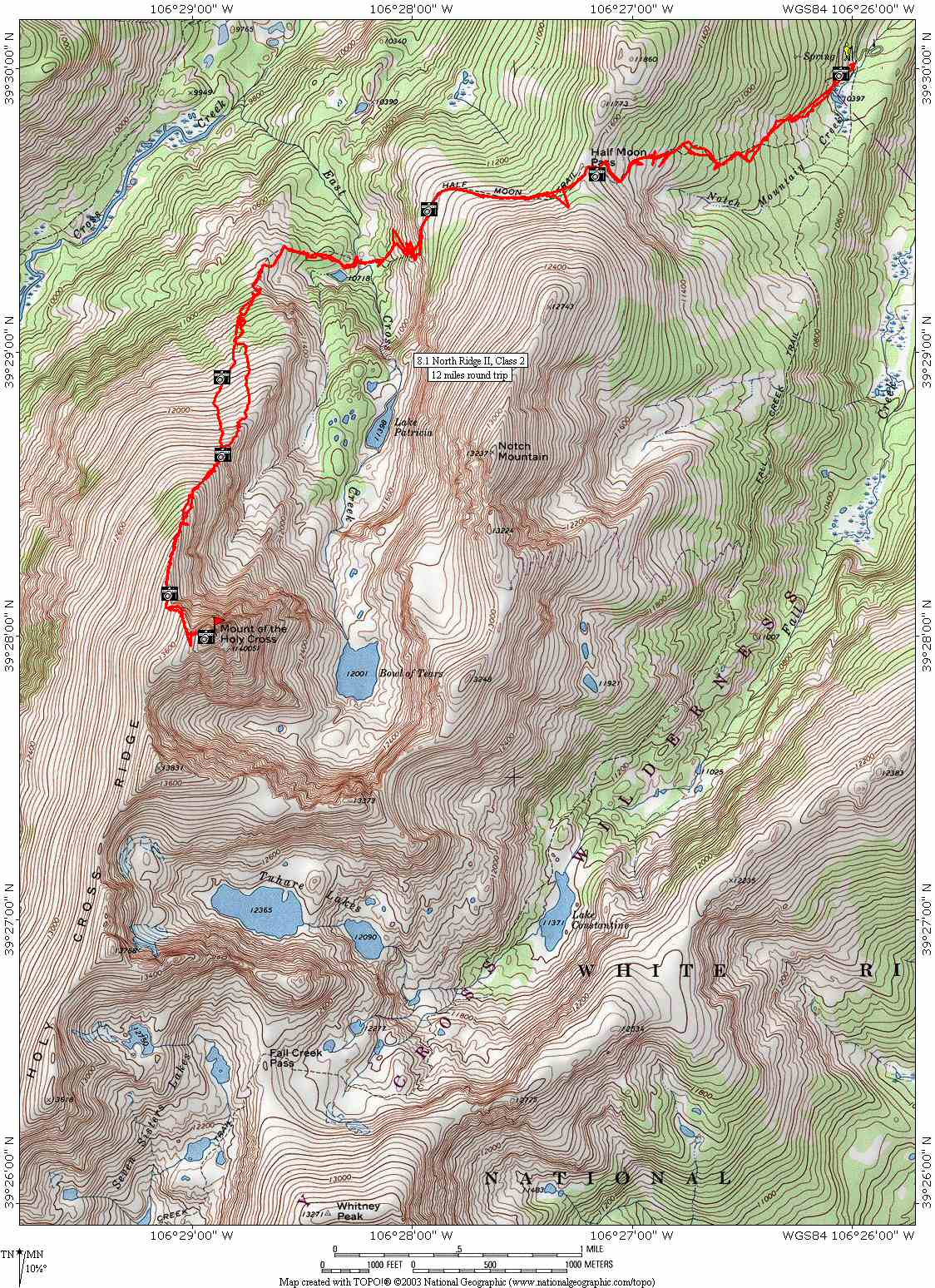 Topo Map - Mount of the Holy Cross